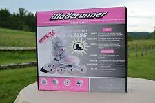 Bladerunner Girl's Phaser Flash Expandable Junior Skate w/ Lights-4 to 7, White