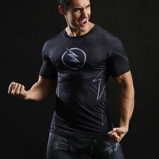 Mens Marvel Superhero Compression T Shirt Running Sports Fitness Tops Spiderman