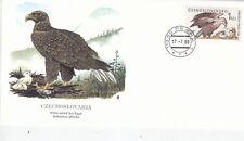 Czechoslovakia 1989 White Tailed Sea Eagle FDC Unadressed VGC