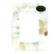 Murano Glass Photo Frame White Bronze From Venice Unique Item 11cm x 8.5cm