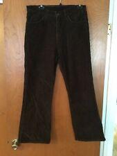 """Vintage Big """"E"""" LEVI'S White Tab Brown Corduroy Jeans 32 x 28 Talon Zipper"""