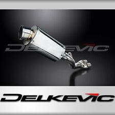 """Honda CBR1000RR de-cat 9"""" Stainless Oval Muffler Exhaust 08-10 11 12 13 14 15"""