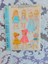 VINTAGE 1960's McCALLS 8564 DOLL CLOTHES PATTERN MEDIUM 14 TO 16 INCH DOLL