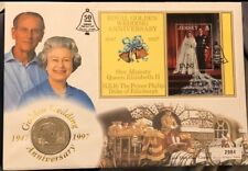Jersey 1997 Royal Golden Wedding Anniversary First Day Cover Featuring £5 Coin