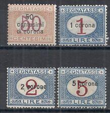 Dalmatia stamps 1922 MI Due 10-13  MLH  VF