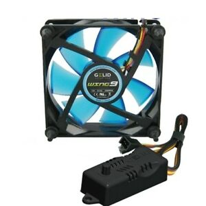 Fan Case PC 92mm Gelid Wing 9 Blue Fan 90x90x25 UV Reactive + Regulator RPM