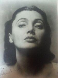 ANTIQUE VINTAGE ARTISTIC FINE ART SIGNED PHOTO GERMAN AMERICAN BEAUTY ACTRESS