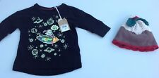 Next baby boys christmas hat and long sleeve tee shirt age 3-6 months