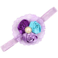 Flower Hair Band Turban Wrap Headband Headress For Newborn Girl Kid Baby Toddler