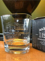 JACK DANIELS WHISKEY GLASS, 28cl, 150 YEAR ANNIVERSARY EDITION, NEW BOXED