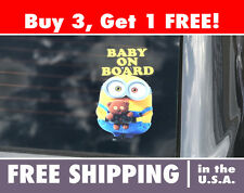 Baby on Board Car Decal - Minion Baby on Board Bumper Sticker, It's A Boy Decal