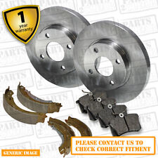 Suzuki Jimny 1.3 Front Brake Discs Pads 290mm Solid Rear Shoes 220mm 85 98- OEM