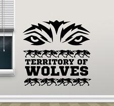 Territory Of Wolves Wall Decal Wolf Eyes Vinyl Sticker Art Decor Mural 218xxx