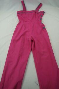 Vintage Jim N Me Youth 9 Pink Green Overalls NWOT F301