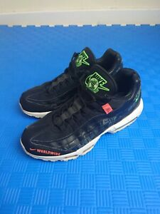 Size UK 8 US 9 EU 42.5 Nike Air Max 95 Worldwide Black Streetwear Rare Graphic
