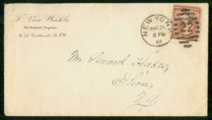 Mayfairstamps US AD 1884 COVER NEW YORK MECHANICAL ENGINEER wwk7131