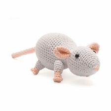 Plump White Mouse Handmade Amigurumi Stuffed Toy Knit Crochet Doll VAC