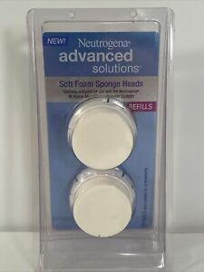 Neutrogena Advanced Solutions Soft Foam Sponge Heads Refills 2 Pack NEW