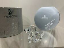 Swarovski Crystal Figurine Beagle Puppy Sitting Clear 7619 000 001 MIB W/COA