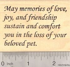 Sympathy in pet loss Rubber Stamp  J17114 WM Animal Welfare, Pet Loss