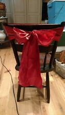 "rustic wedding decor burnt orange satin chair sash 6"" x 108"""