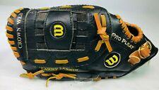 "Wilson Barry Larkin A2482 Series Leather Baseball Glove 11"" Black LEFT HT"