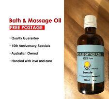 MASSAGE &BATH Oil 100ML•100%PURE ESSENTIAL OILS• FREE POSTAGE•Aromatherapy Grade