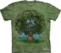Guitar Tree T-Shirt by The Mountain. Retro Hippie Peace Music Sizes S-5XL NEW