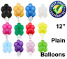 5-10 Latex PLAIN BALOONS BALLONS helium or air fill BALLOONS birthday wedding