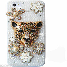 NEW BLING 3D COOL ANIMAL DESIGNER DELUX PEARL DIAMANTE CASE COVER 4 IPHONE 6 6s