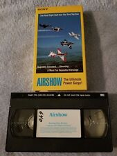 Airshow: The Ultimate Power Surge! (1986) - VHS Tape - Sports - Airplanes - Sony