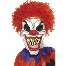Smiffys Scary Clown Mask With Hair - Adult