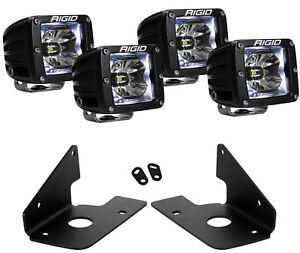 Rigid Radiance LED Fog Light White Backlight for 11-14 Chevy Silverado 2500 3500