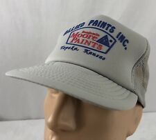 78e1a17bffa Vtg Allied Paints Hat Snapback Trucker Cap Gray Topeka Kansas Benjamin Moore