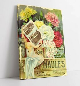 QUIRKY VINTAGE FLOWERS ADVERTISEMENT ART POSTER -CANVAS WALL ART PICTURE PRINT