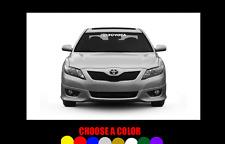 "TOYOTA Windshield Banner 23"" Decal Vinyl Sticker TRD Corolla Camry Tundra Celica"