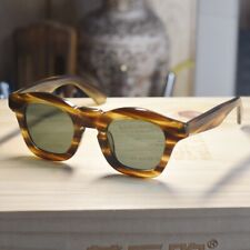 Vintage handmade G15 polarized sunglasses mens solid acetate tortoise glasses