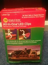 2 @ 70 pack Lites Up All in One Led Light Clips White Plastic new (140 total)