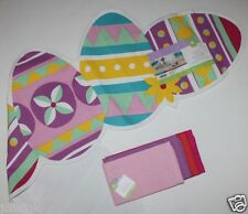 NWT 100% Cotton 48 x 14 Easter Egg Table Runner + 4 NIP Coordinating Napkins