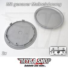 2x NABENKAPPEN NABENDECKEL 165 mm / 137 mm FELGE FELGENDECKEL AUDI VW 8L0601165D