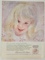 Northern Tissue Lovely Lavender Girl Vintage Magazine Print Ad 1963 Better Homes