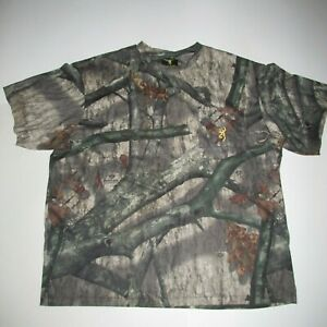 Browning NEW Mossy Oak Camouflage Short Sleeve Hunting Shirt  Men's 2XL H6