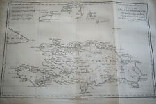 CARTE ANCIENNE SAINT DOMINGUE HAITI RIGOBERT BONNE 1788 (R1185) MAP