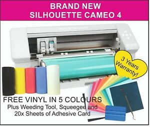 Silhouette Cameo 4 Cutter with FREE VINYL + 3 Year UK Warranty - UK STOCK