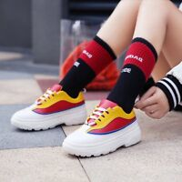 womens platform Stylish Leisure lace up round toe new sport shoes Chic sneaker