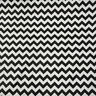 "Black Chevron Poly Cotton Zigzag Fabric 56"" / 58"" Width By The Yard"