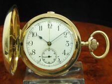 Nathan Ruben Fränkel 14kt 585 Gold Savonette Taschenuhr Viertel-Repetition