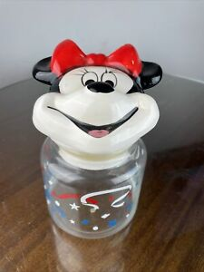 Vintage Minnie Mouse Jar Topper With Glass Jar