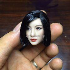 "1/6 Scale Asian Women Short Black Hair Head Sculpt For 12"" Female Body Figure"