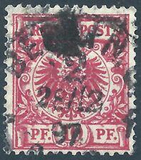 Adler MiNr. 47d III geprüft JÄSCHKE L. BPP und gestempelt in BERLIN am 28 / 2 97